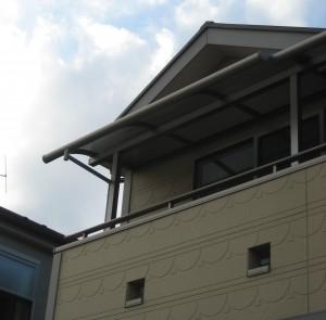 バルコニー屋根拡大